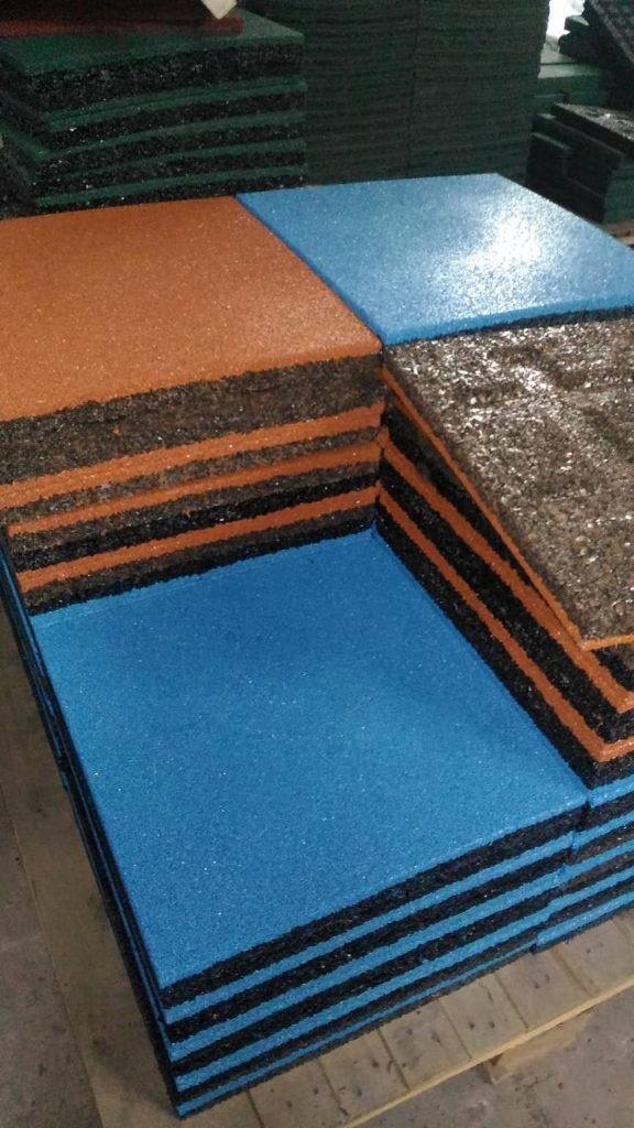 Резиновая плитка 500х500х40 на складе