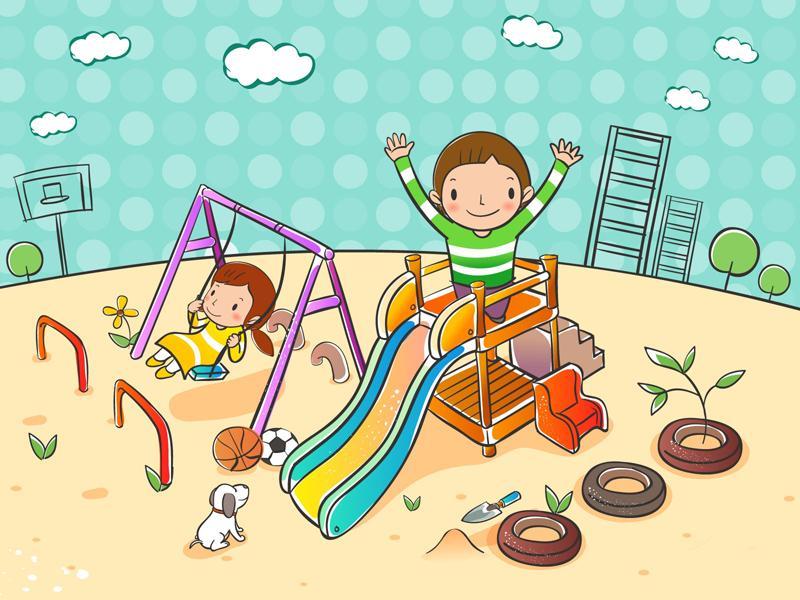 Рисунок детской площадки