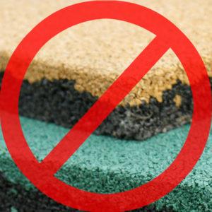 нарушение технологии, брак резиновой плитки