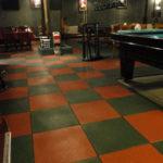 резиновая плитка в клубе