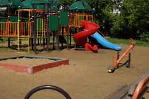Детская площадка, песок