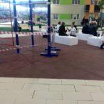 Резиновая плитка в зале на выставке