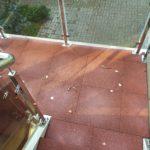 Резиновая плитка ELITPLIT на лестничной площадке