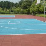 Резиновая плитка на спортивной площадке