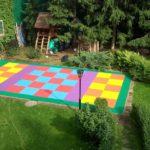 Детская площадки из плитки с EPDM крошкой на дачном участке