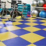 Спортивная плитка в спортзале