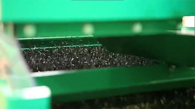 Резиновая крошка после утилизации шин