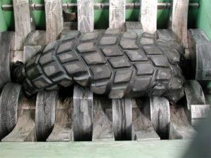 Заводская переработка шин
