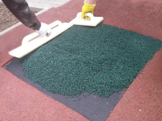 ремонт бесшовного покрытия