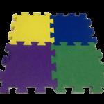 Резиновая плитка Пазл 500х500х40
