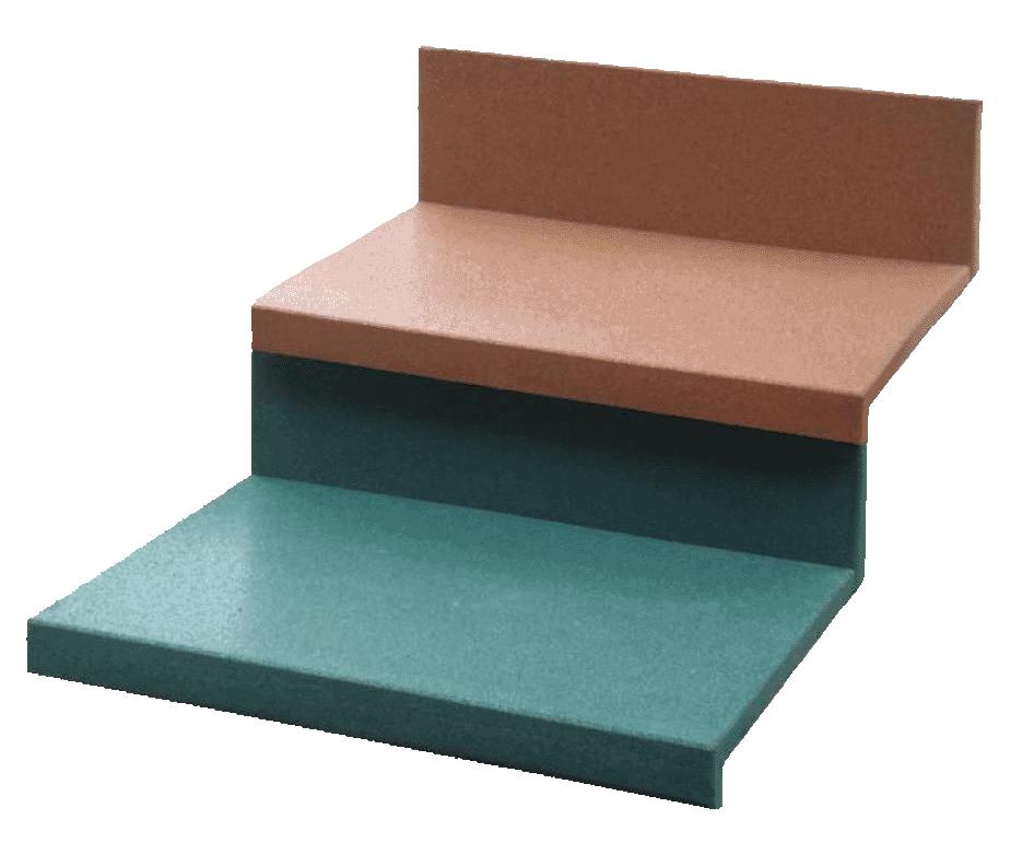 Резиновая плитка для ступенек крыльца