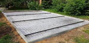 Обустройство бетонного основания площадки