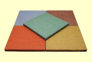 Резиновая плитка 500х500х30 мм