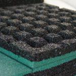 Протектор резиновой плитки ELITPLIT 500х500х40 для песка
