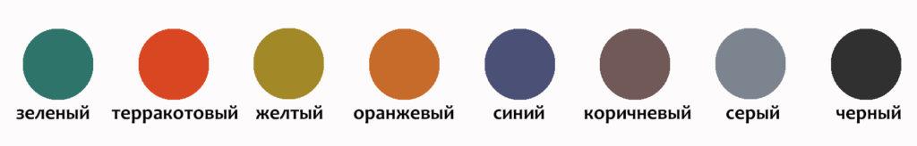 Цветовая гамма резиновой плитки Ласточкин хвост