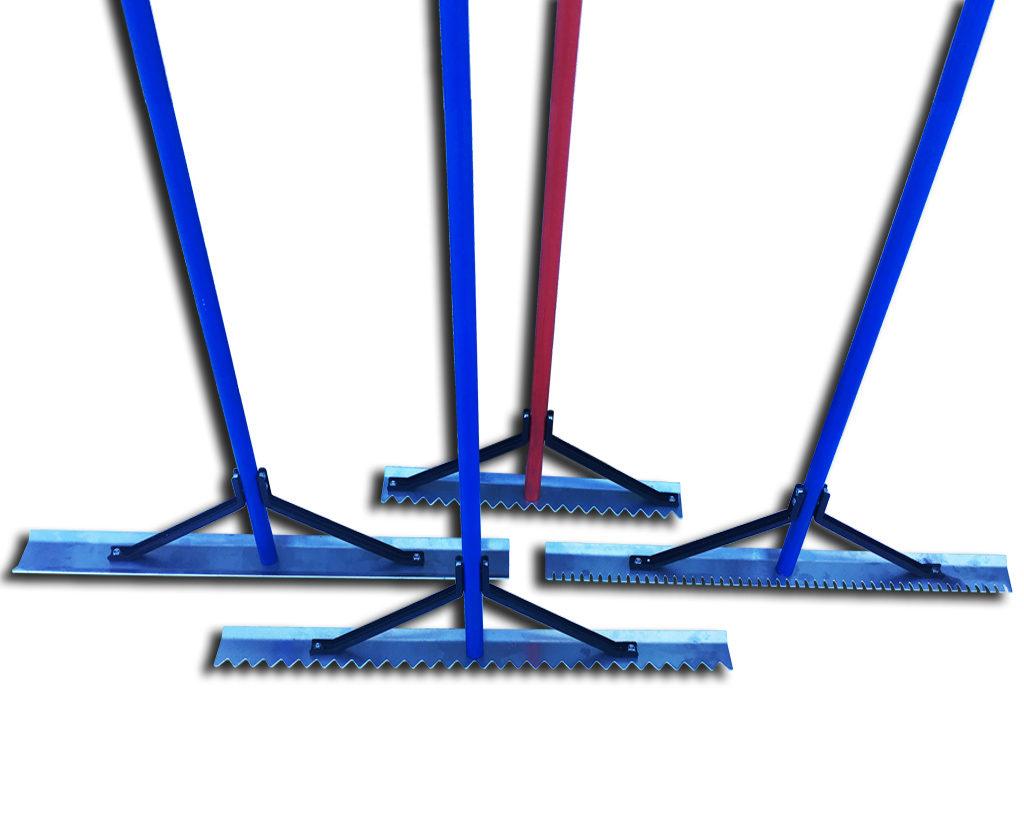 Грабли для обустройства бесшовного покрытия из резиновой крошки