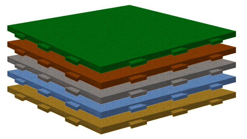 Резиновые плитки Ласточкин хвост