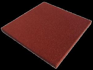Терракотовая резиновая плитка 500х500х20 мм плоская