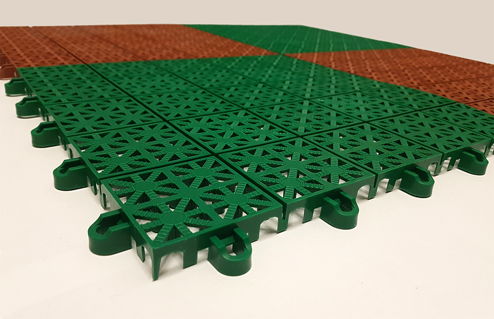 Дренаж для резиновой плитки