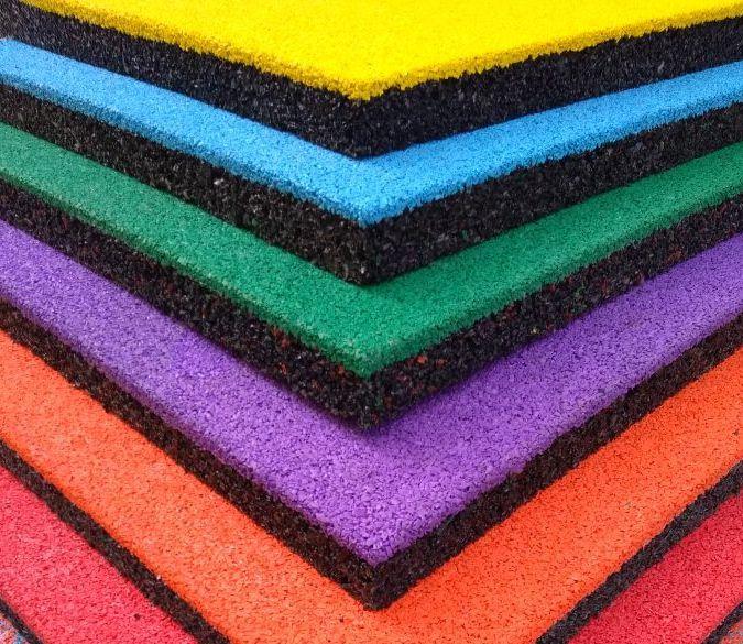 Резиновая плитка для детских и спортивных площадок, дорожек