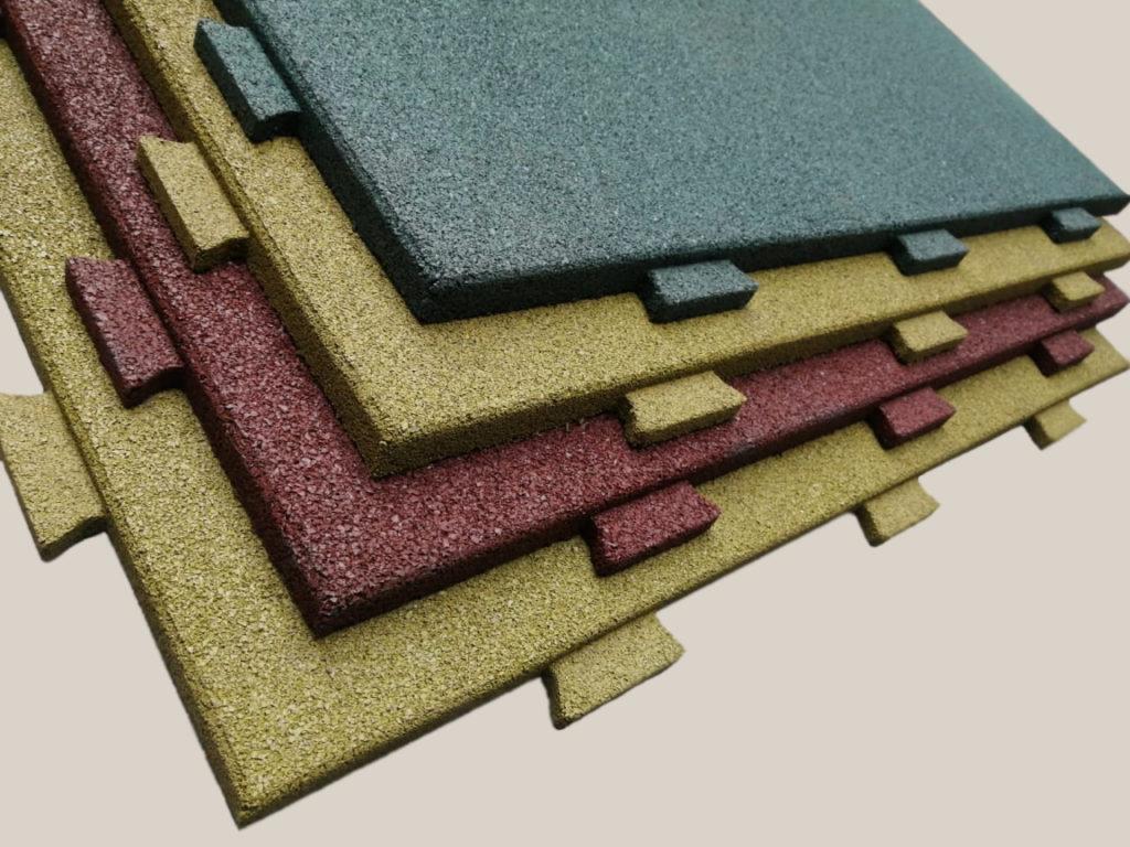 Четыре резиновых плитки ELITPLIT Ласточкин хвост