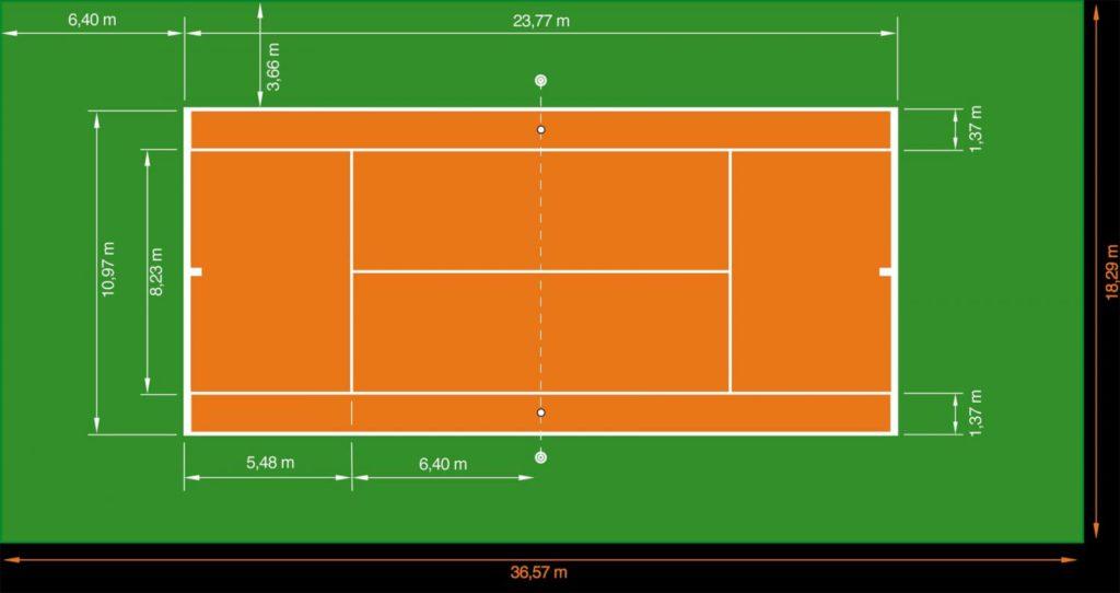 Корт для тенниса