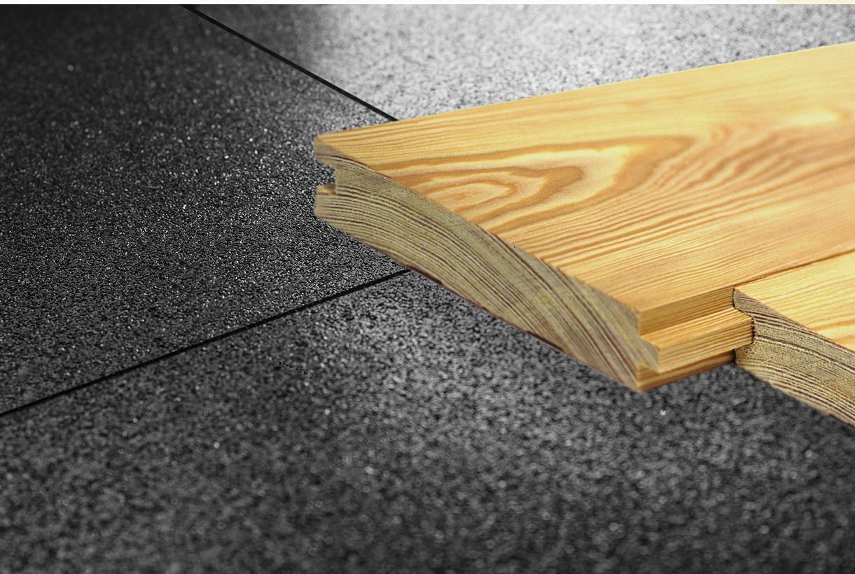 Тонкая резиновая плитка для подложки при обустройстве напольных покрытий