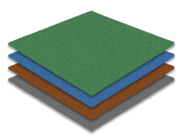 Тонкая резиновая плитка Rubblex 6-10 мм