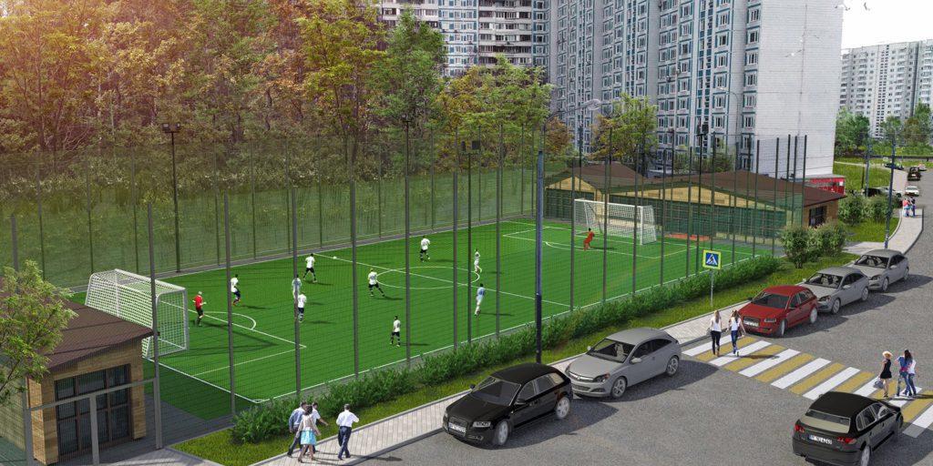 Проект футбольного поля