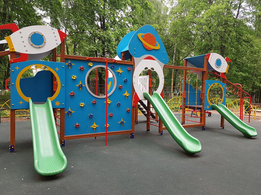 Тематика дизайна детской площадки Космос