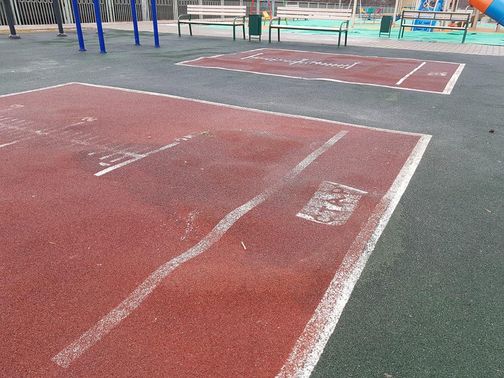 Дефект спортивного покрытия