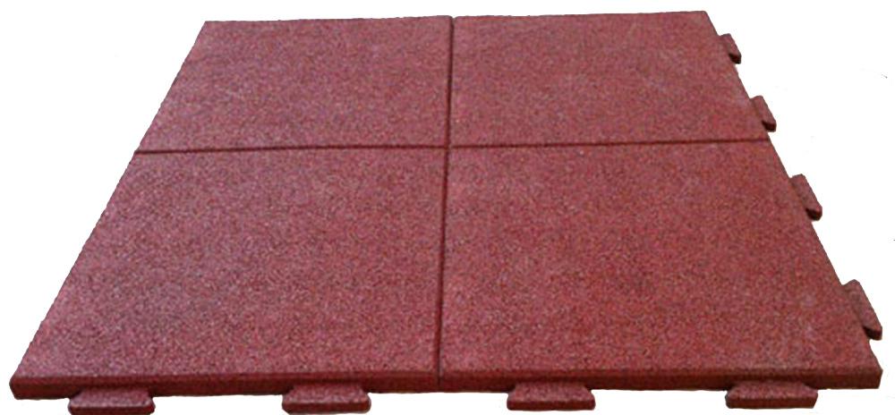 Резиновая плитка 1х1 м