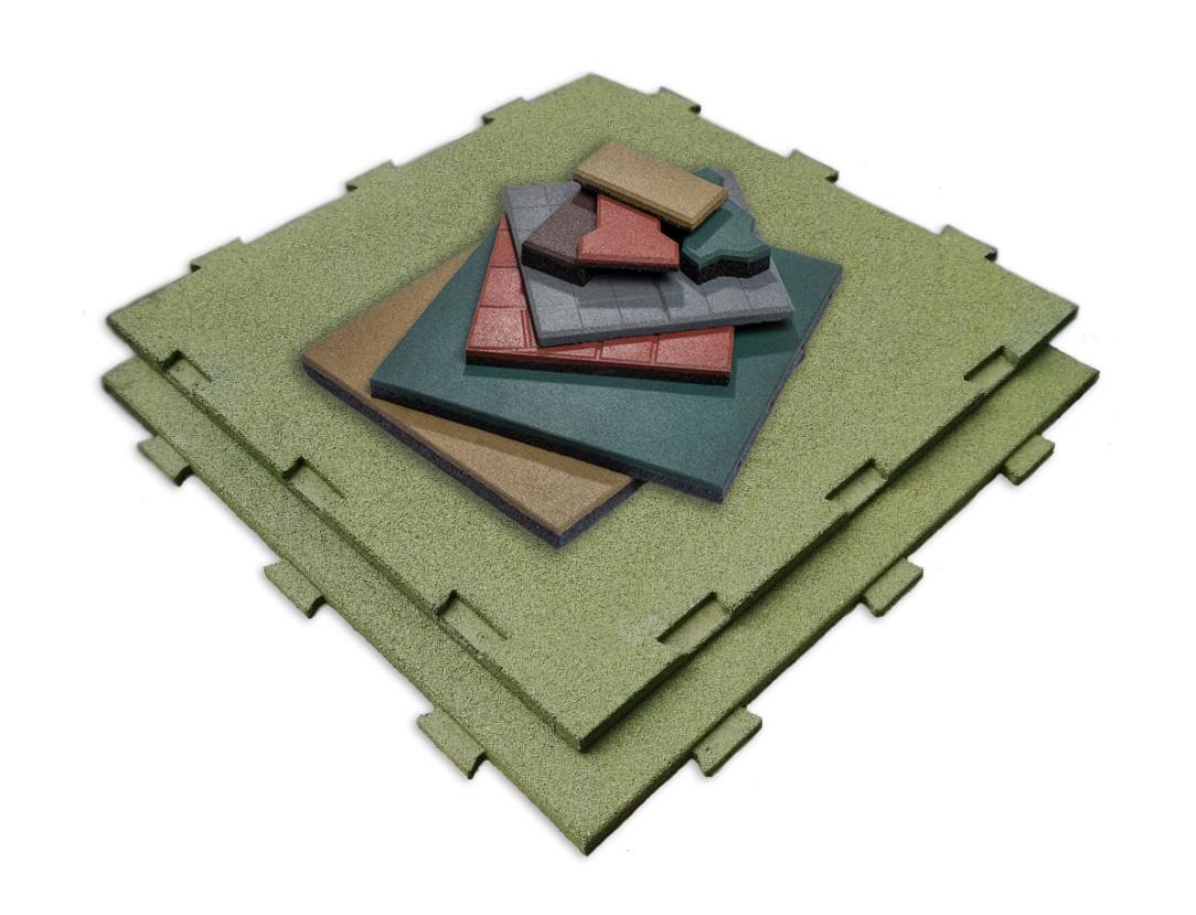 Варианты изготовления резиновой плитки