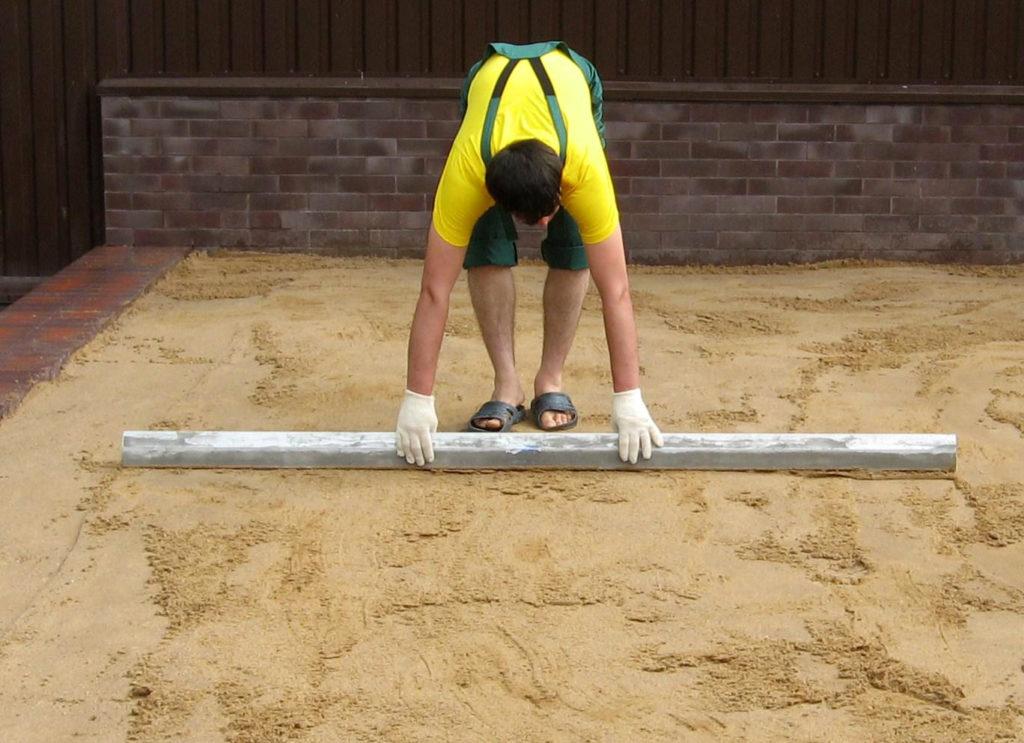 Песчаное основание для укладки плитки