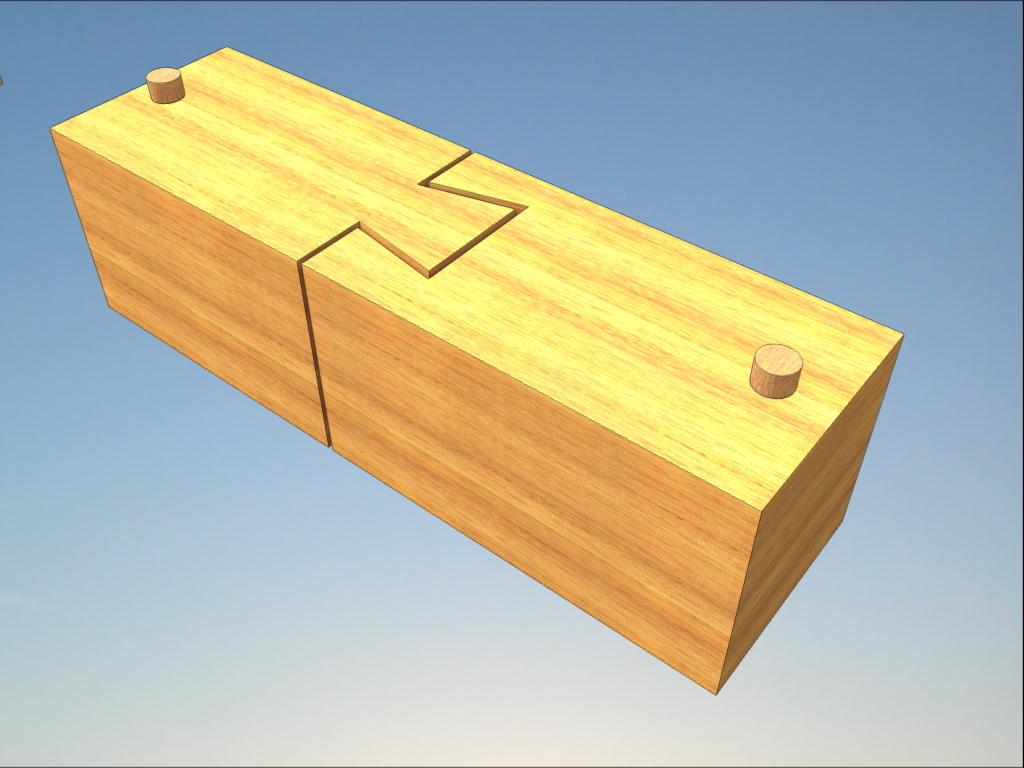 Стыковка деревянных деталей с помощью ласточкиного хвоста