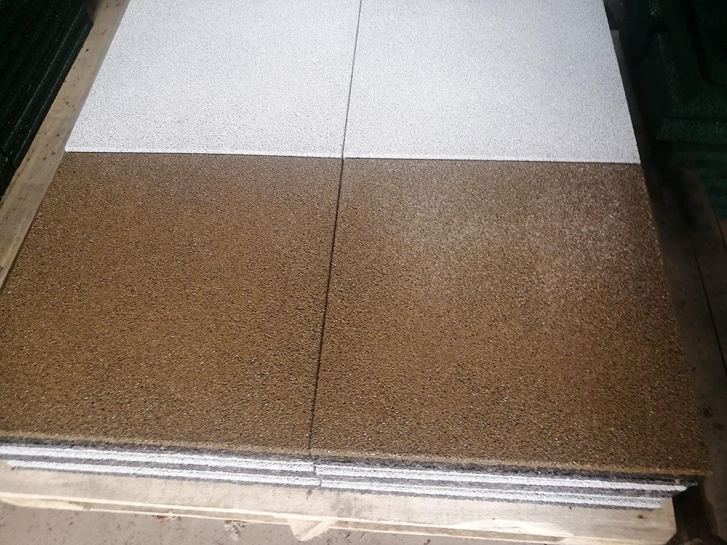 Цветная резиновая плитка ELITPLIT 500х500х40 мм