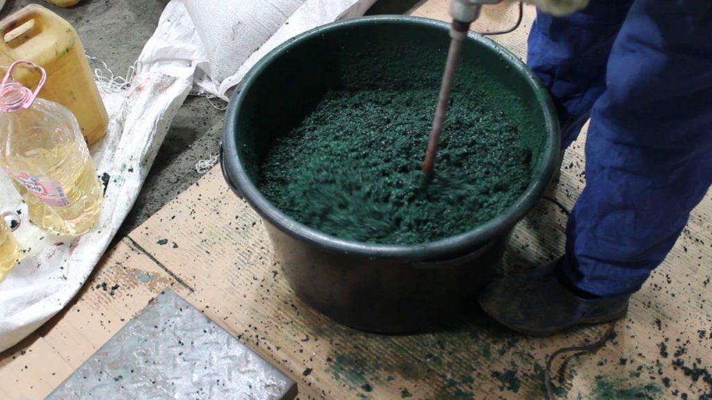 Получение рабочей смеси бесшовного покрытия