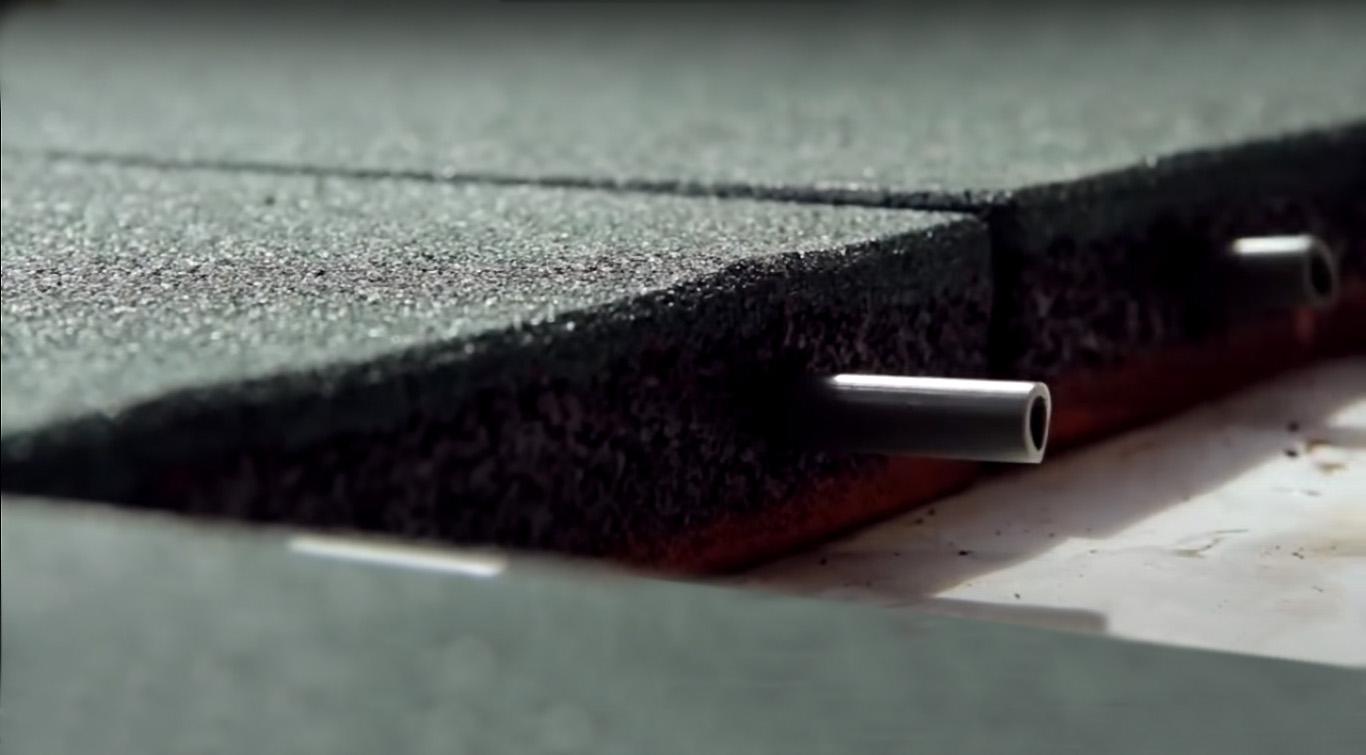 Укладка резиновой плитки 500х500х40