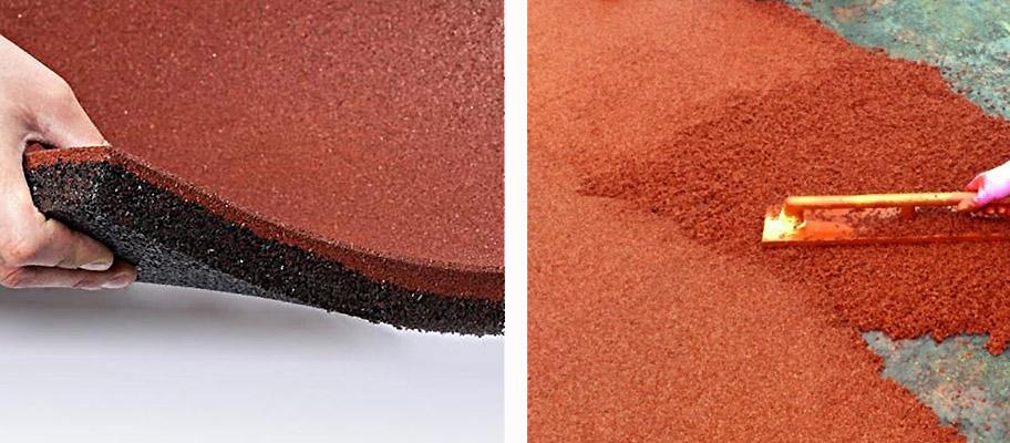 Покрытия из резиновой крошки терракотового цвета для детских площадок