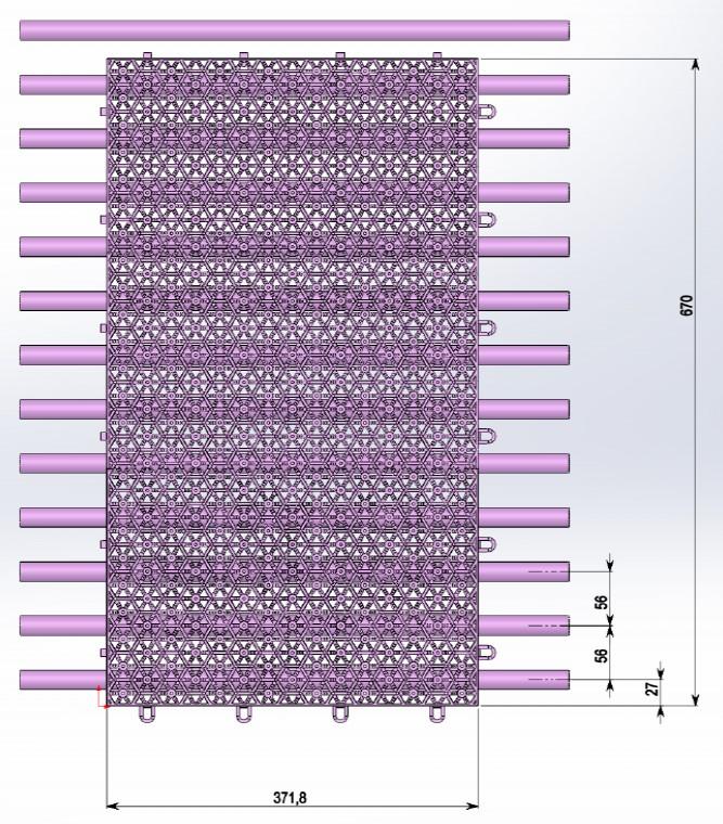 Система обогрева поля вмонтированная в ПДМД