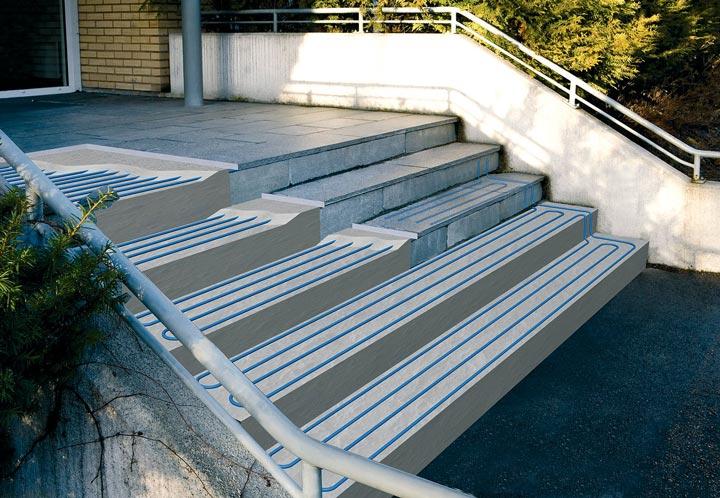 Иллюстрация системы подогрева лестницы входной группы