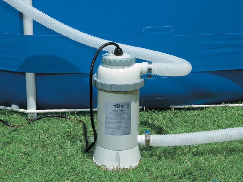Система подогрева воды в каркасном бассейне