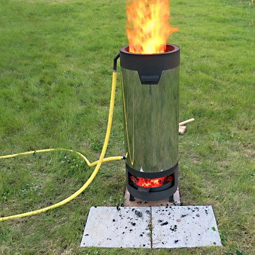 Нагреватель воды в бассейне дровяной