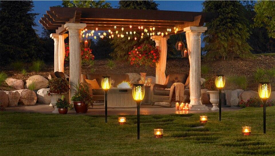 Освещение беседки в саду