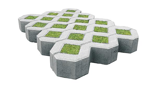 Пример газонной брусчатки