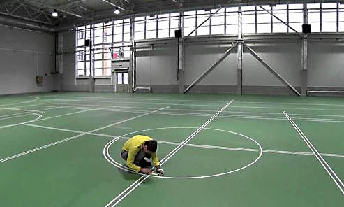 Разметка спортивной площадки