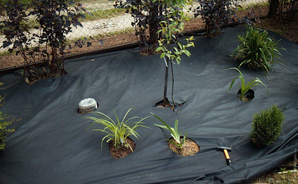 Применение геоткани в ландшафтном строительстве