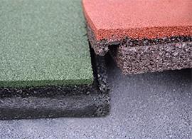 Замковое соединение резиновой плитки