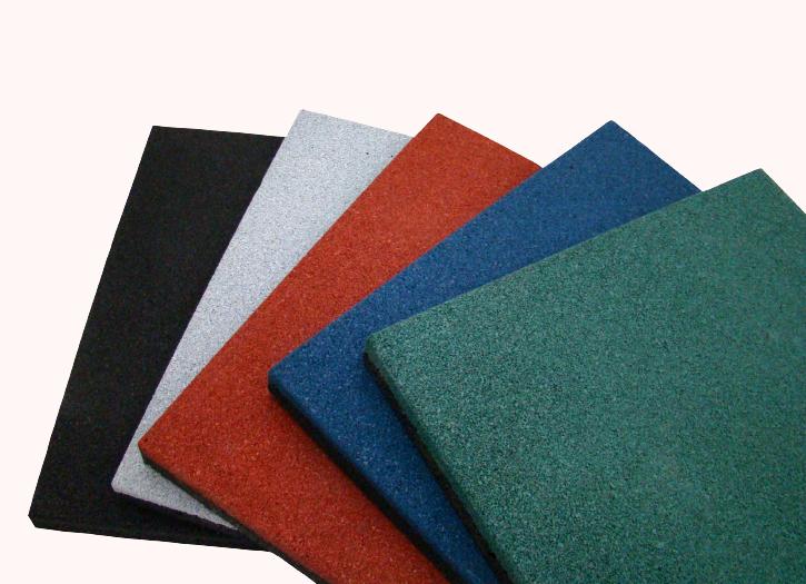 Цветная резиновая плита 500х500 мм для уличных площадок