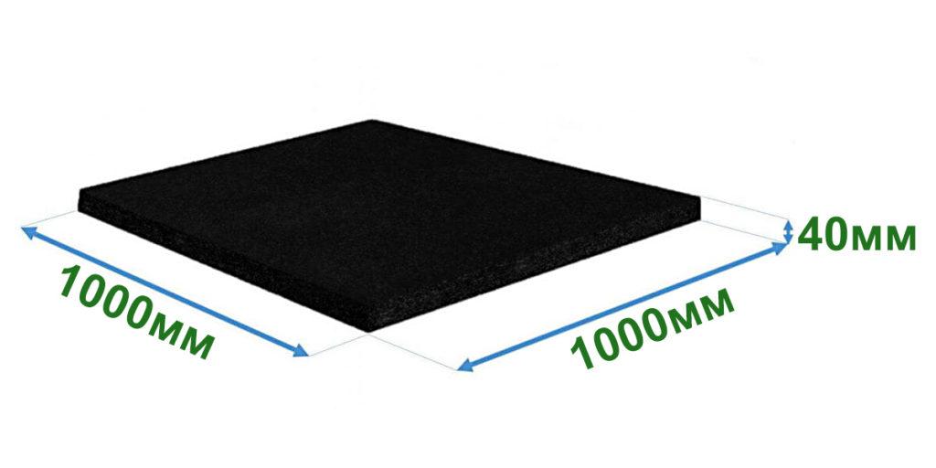 Резиновая плитка для подложки бесшовного покрытия